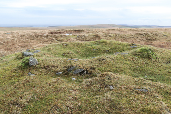 Small burial mound, less than 1m high